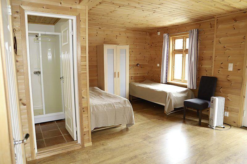 Angelreisen Norwegen 41120 Gassasundet Gul Rorbu Schlafbereich