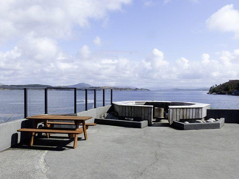 Angelreisen Norwegen 41297 Herdla Terrasse