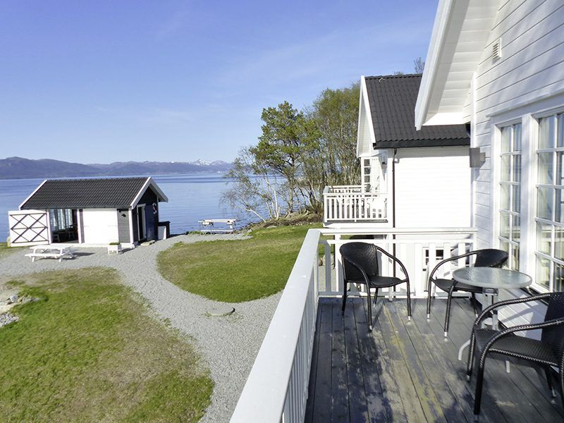Angelreisen Norwegen 41773-41774 Ferienhäuser Nerås Balkon, Filetierhaus