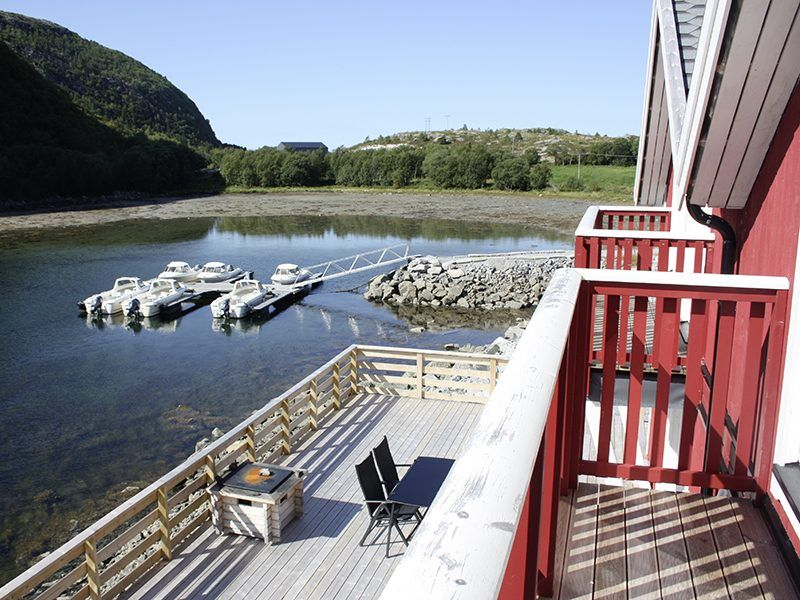 Angelreisen Norwegen 42451-42464 Flatanger Rorbuer Blick vom Balkon