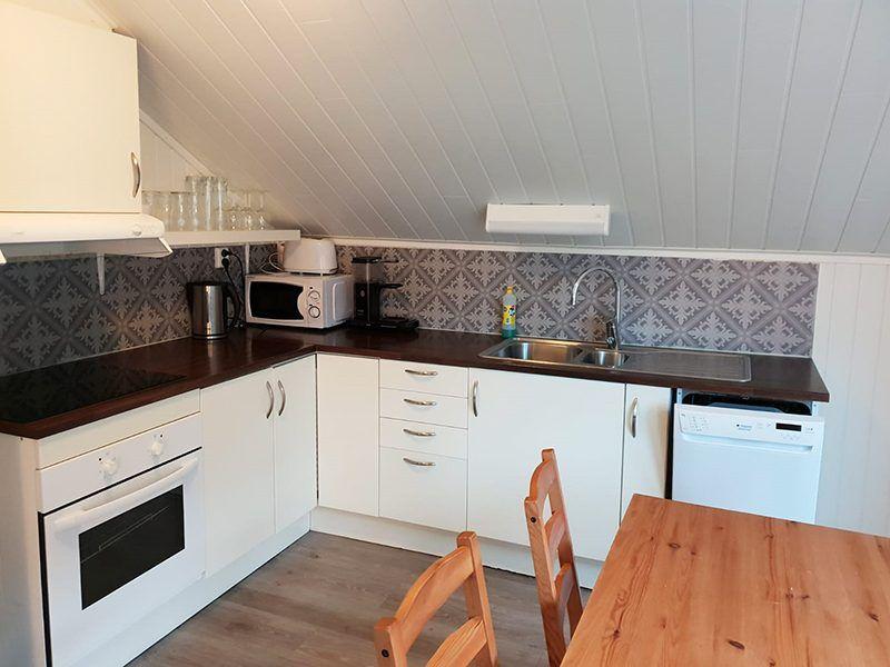 Angelreisen Norwegen 42463-464 Flatanger Rorbuer Küche