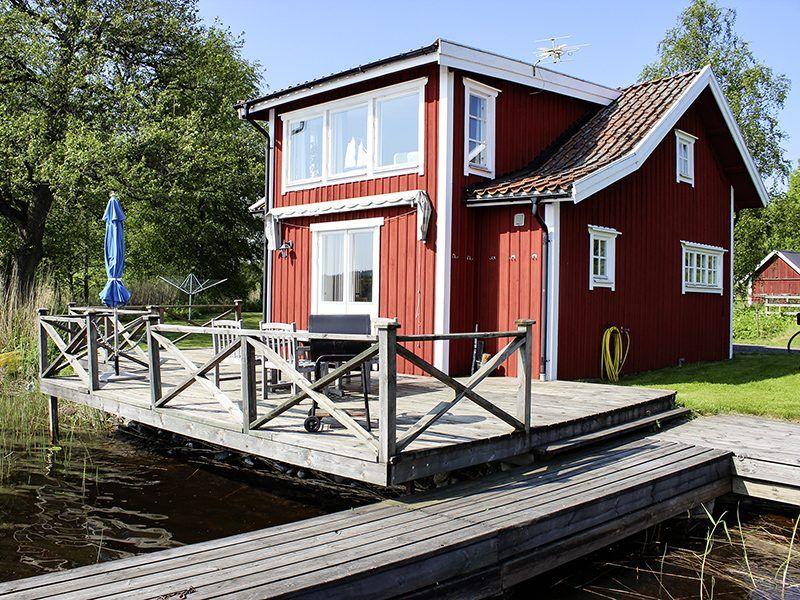 Angelreisen Schweden 7075 Forsvik Ansicht vom Wasser
