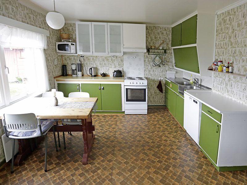 Angelreisen Norwegen 42442 Nord-Flatanger Utvorda Küche