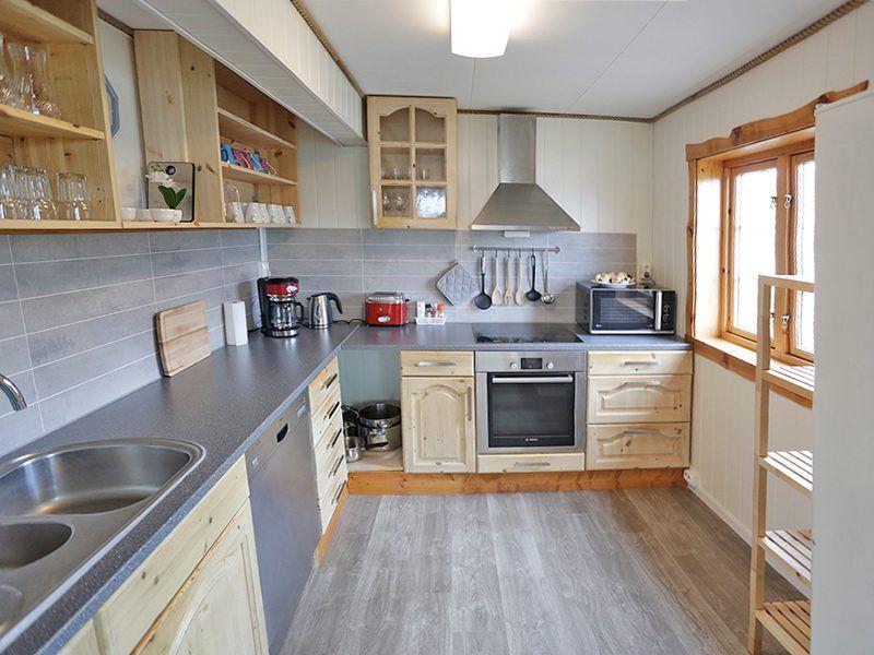 Angelreisen Norwegen 42443 Nord-Flatanger Utvorda Küche