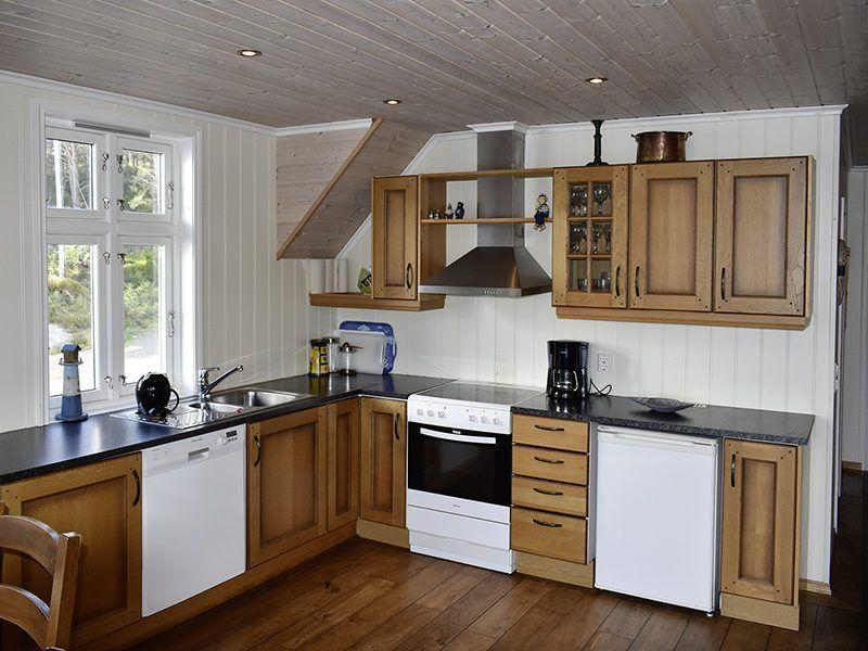 Angelreisen Norwegen 41122 Gassasundet Rorbuer Küche