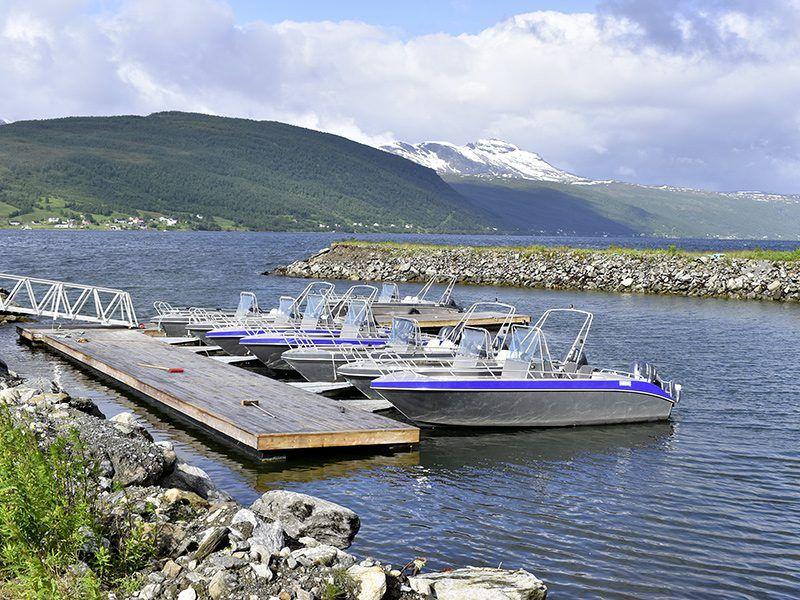 Angelreisen Norwegen 43501-43508 Lavangen Sjøfiske Aluminiumboote 19 Fuss, 60 PS, Echolot, Kartenplotter
