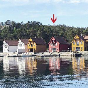 Angelreisen Norwegen 41122 Gassasundet Rorbuer Ansicht vom Wasser
