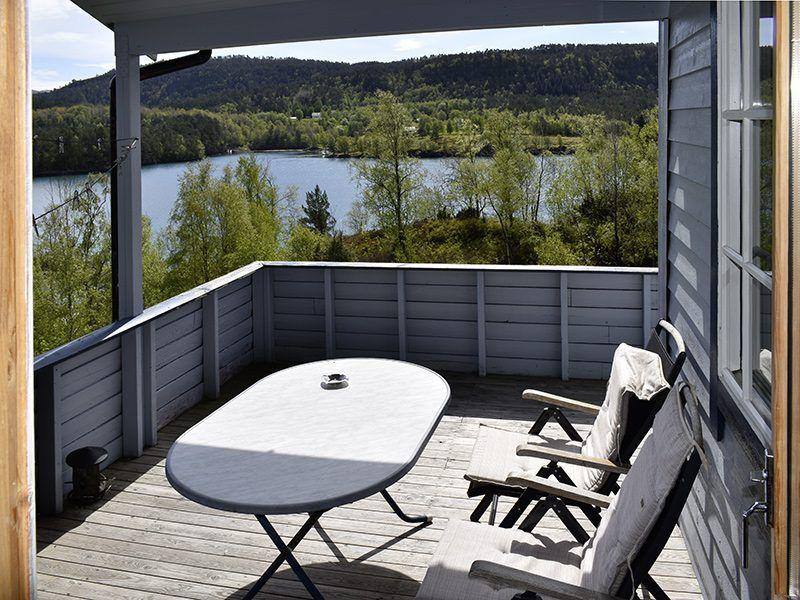 Angelreisen Norwegen 41353 Austgulen Fjordhytter Terrasse
