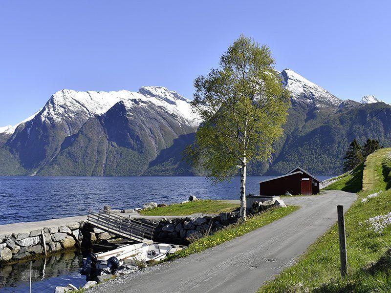 Angelreisen Norwegen 41661-41663 Hustadnes Fjordhytter Hafen