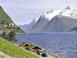 Hustadnes Fjordhytter Panorama