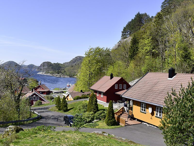 Angelreisen Norwegen 40080-40093 Bjørnevåg Ferie Blick zum Wasser