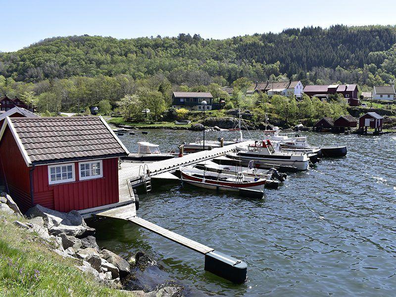 Angelreisen Norwegen 40080-40093 Bjørnevåg Ferie Hafen und Filetierhaus