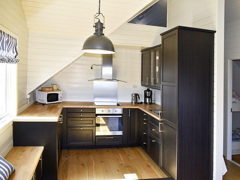 Angelreisen Norwegen 40322 Kvitsøy Seehaus Mirjam Küche