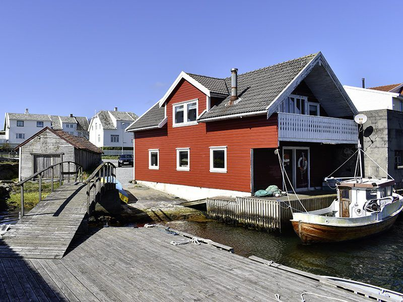 Angelreisen Norwegen 40322 Kvitsøy Seehaus Mirjam Seitenansicht