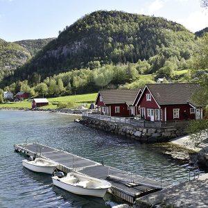 Angelreisen Norwegen 41381-41392 Hjartholm Feriehytter Ansicht