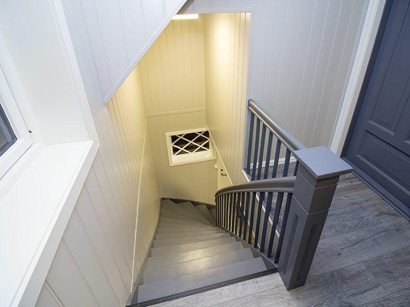 Angelreisen Norwegen 41680 Haus Storfjord Treppe