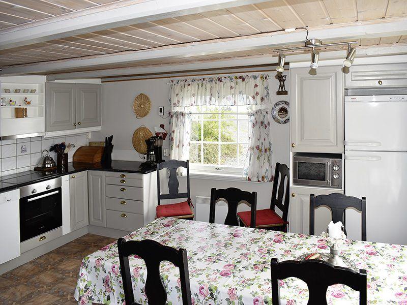 Angelreisen Norwegen 41911 Bergtun Hytter Küche, Essplatz