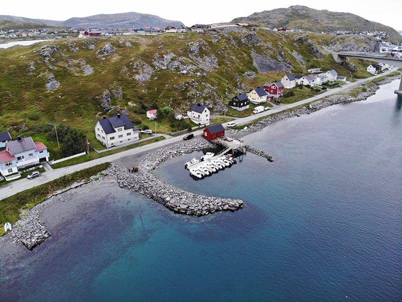 Angelreisen Norwegen 44001 - 44010 Havøysund Sjøhus Luftaufnahme