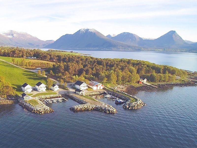 Angelreisen Norwegen 41771-41776 Ferienhäuser Nerås Luftaufnahme