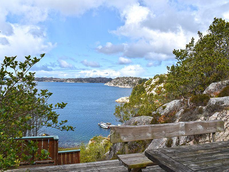Angelreisen Norwegen 41050 Rolfsnes Aussicht Terrasse