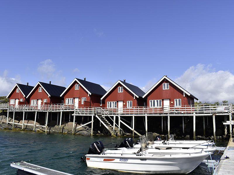 Angelreisen Norwegen 43301-43305 Offersøy Feriesenter Ansicht von vorn