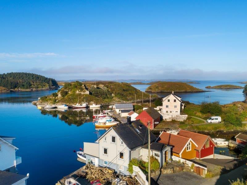 Angelreisen Norwegen 40700 Ferienhaus Karmøy Luftbild Haus