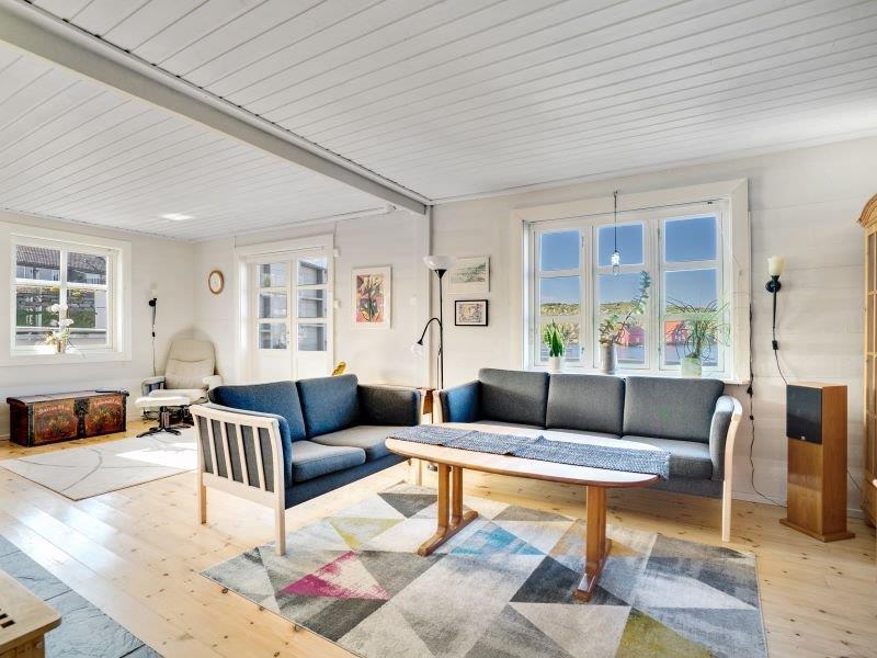 Angelreisen Norwegen 40700 Ferienhaus Karmøy Wohnen mit Couch
