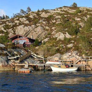 Angelreisen Norwegen 41020 Haus Draumen Panorama mit Boot