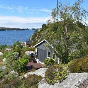 Angelreisen Norwegen 41040 Rolfsnes Ansicht zum Meer