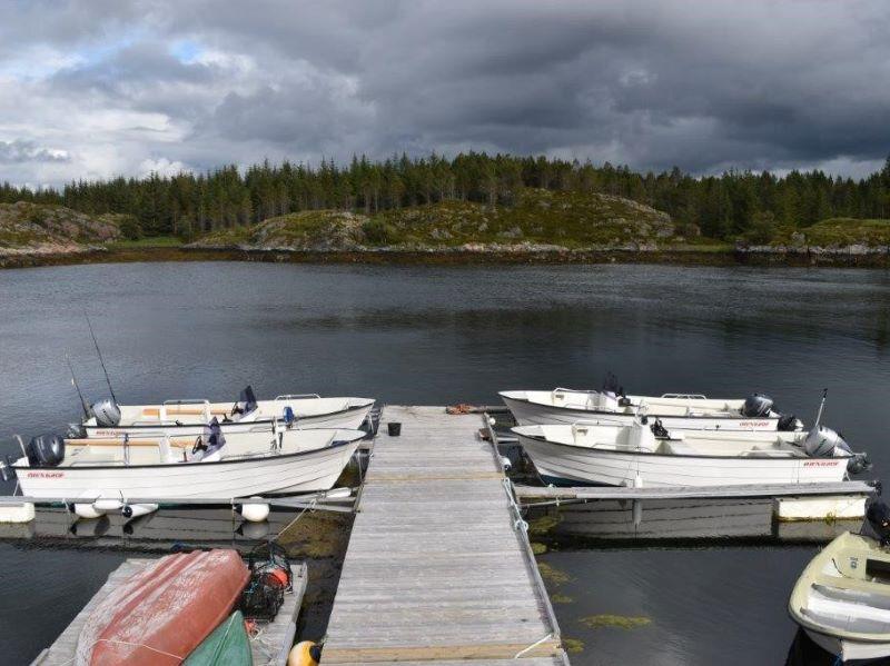 Angelreisen Norwegen Gaupsundet Feriehytter Hafen