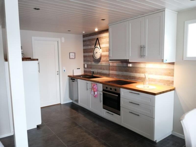 Angelreisen Norwegen Gaupsundet Feriehytter Rorbu Küche