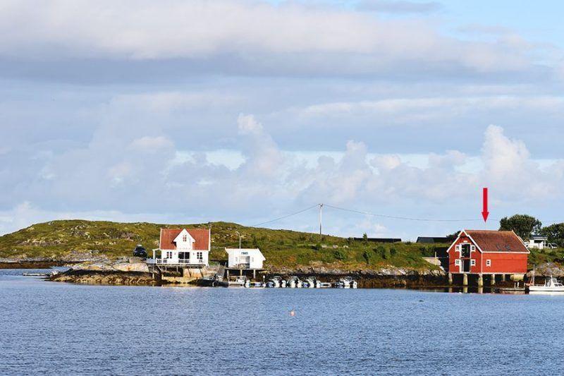 Angelreisen Norwegen 42010 Kjevikan Sjøferie Ansicht vom Wasser
