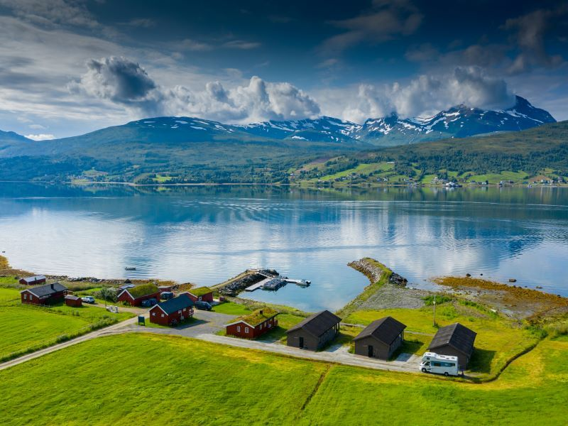 Angelreisen Norwegen 43501-43508 Lavangen Sjøfiske Ansicht zum Panorama
