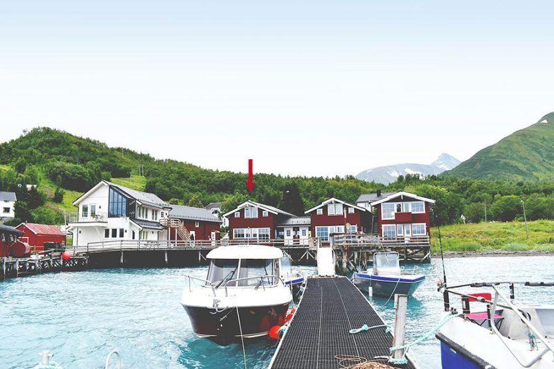 Angelreisen Norwegen 43561 Koppangen Brygger Ansicht vom Wasser
