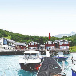 Angelreisen Norwegen 43562 Koppangen Brygger Ansicht vom Wasser