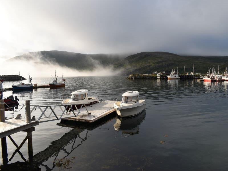 Angelreisen Norwegen 45001-45002 Skarsvåg Nordkapp Boote und Hafenausfahrt