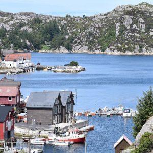 Angelreisen Norwegen 41073 Rorbu Rolfsnes Ansicht Panorama