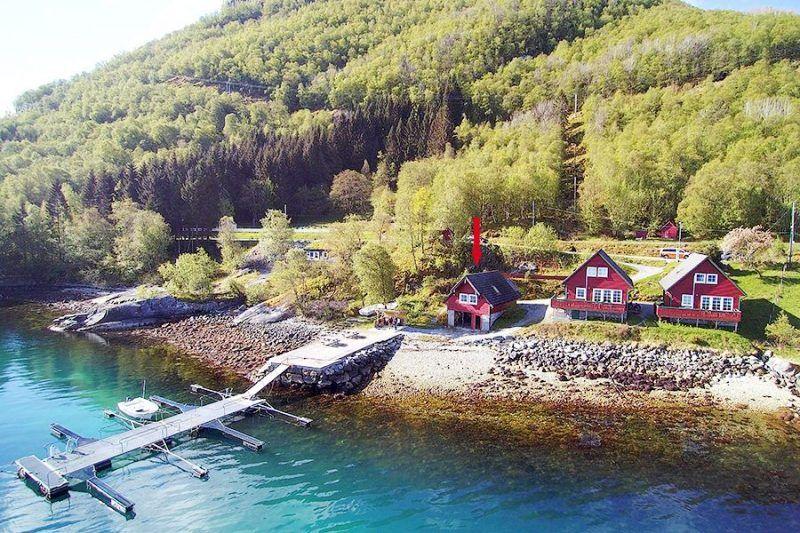 Angelreisen Norwegen 41403 Sognefjord Ferienhäuser Ansicht