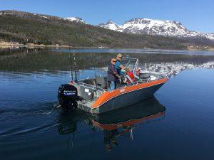 Senja Fishing Lodge - Aluboot 19 Fuß, 60 PS, 4-Takt mit Echolot, GPS und Kartenplotter. Schwimmwesten vorhanden.