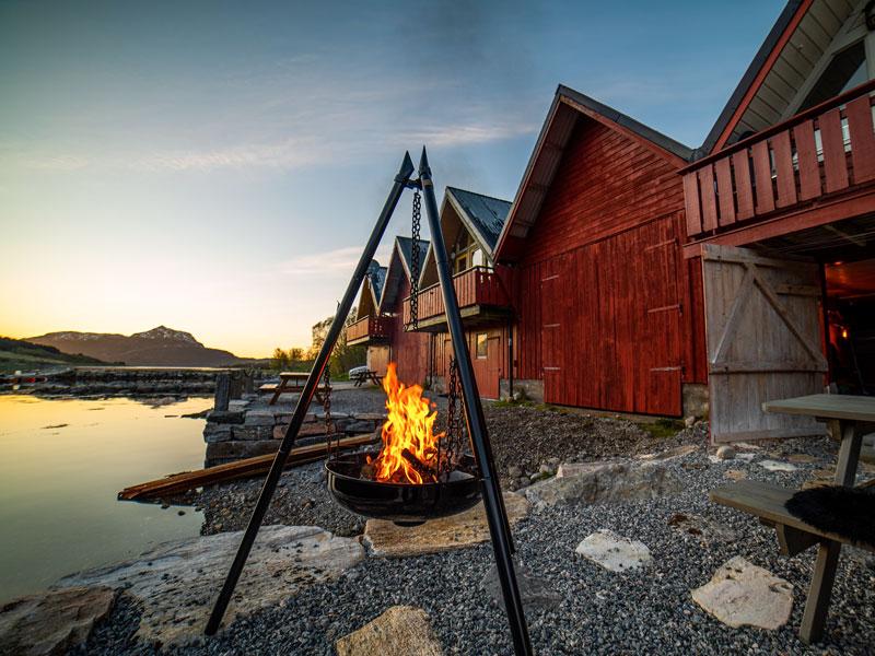 Angelreisen Norwegen 41805 Vestrefjord gemütliches Feuer