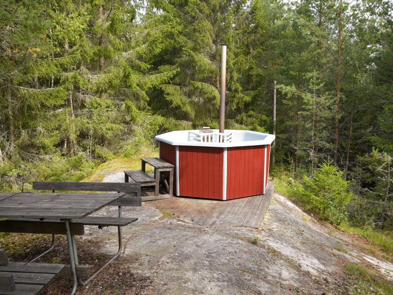 Angelreisen Schweden 7081-7082 Hot-Tub auf dem Felsen
