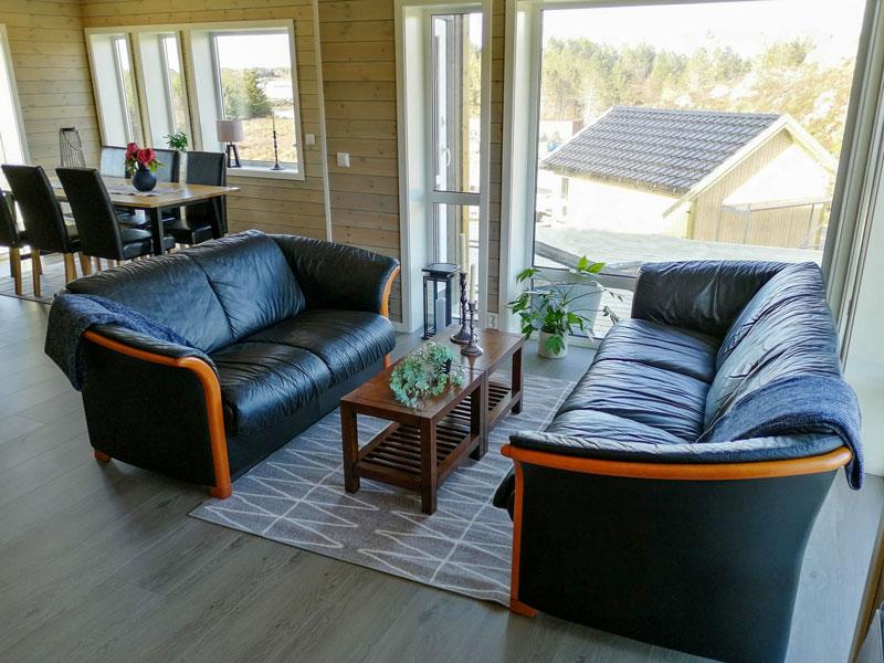Angelreisen Norwegen 41961-41963 Gaupsundet Feriehytter Cottage Wohnbereich Beispiel