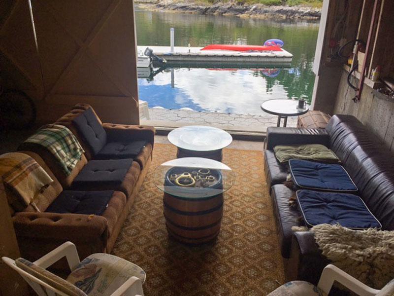 Angelreisen Norwegen 41250 Seehaus Karl Aufenthaltsraum Wasserblick