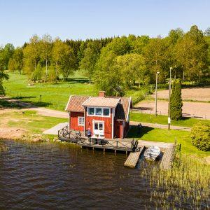 Angelreisen Schweden 7075 Forsvik Ansicht_Drohne