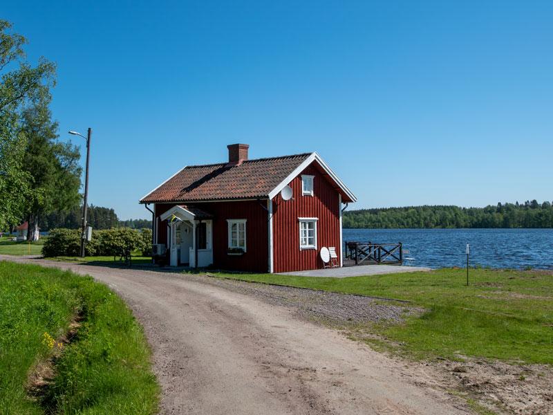 Angelreisen Schweden 7075 Forsvik Ansicht zum Wasser